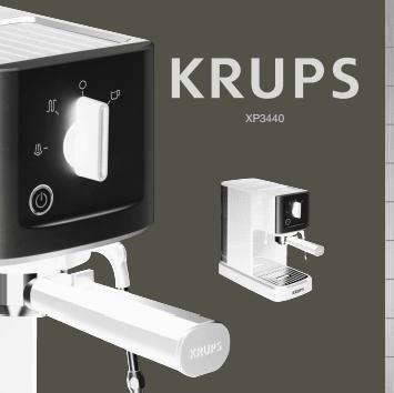 Manuales de usuario de cafeteras Krups