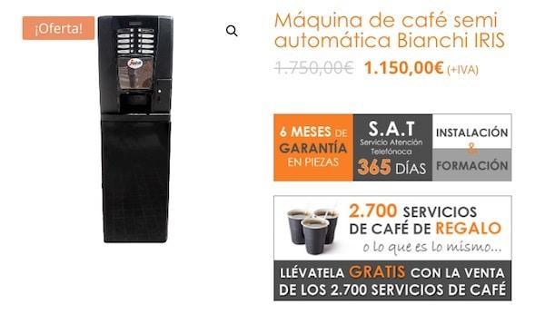 Oferta en Máquinas de café vending - precios