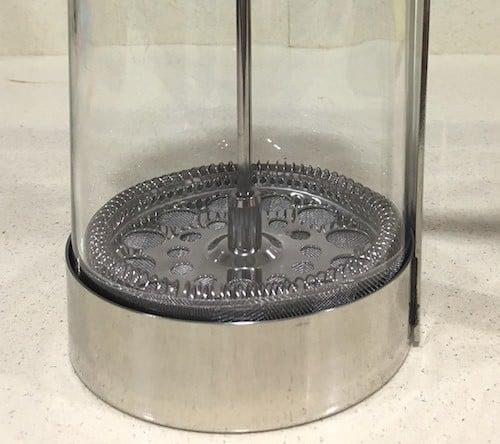 Detalle del filtro de la cafetera de acero inoxidable Silberthal