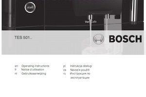 Manuales de usuario cafeteras Bosch