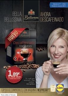 Cápsulas de café Bellarom descafeinado