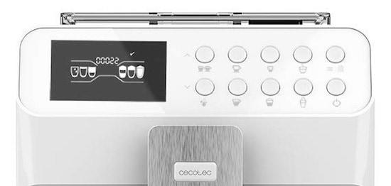 Panel de control de la Cecotec Power Maticcino serie 7000