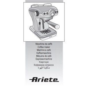 Descargar manual de usuario cafetera Ariete en PDF