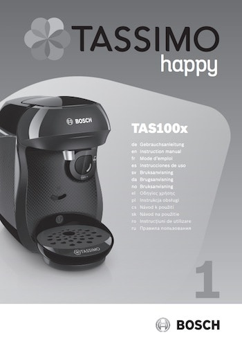 Manual de instrucciones Tassimo Happy en PDF