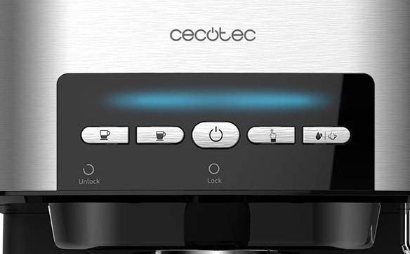 Foto del panel de control de la cafetera Cecotec Power Espresso Matic
