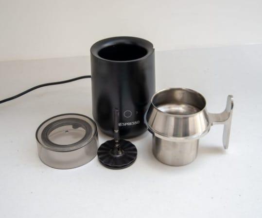 Componentes del espumador Nespresso Barista