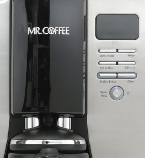 Panel de control de la cafetera programable Mr. Coffee