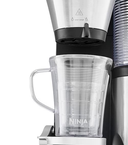 Detalle de la cafetera Ninja Coffee Bar