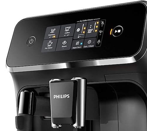 Panel de control de la cafetera Philips EP2221