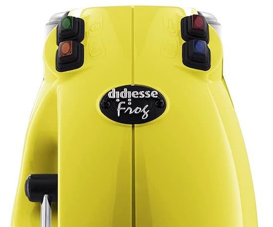 Cafetera Didiesse Frog Revolution de color amarillo