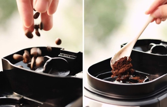 Cafetera de filtro Razorri - cafe en polvo