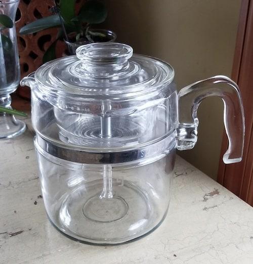Cafetera de cristal Pyrex